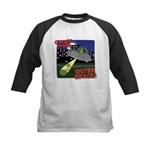 Corgi Alien Abduction Kids Baseball Jersey