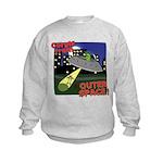 Corgi Alien Abduction Kids Sweatshirt