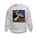 Corgi Alien Abduction Kids Sweatshirt