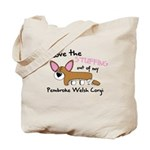 Stuffing Pembroke Welsh Corgi Tote Bag