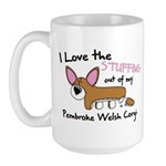 Stuffing Pembroke Welsh Corgi Large Mug