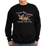 Stuffing Pembroke Welsh Corgi Sweatshirt (dark)
