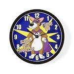 Superhero Corgi Wall Clock
