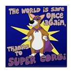 Superhero Corgi Tile Coaster
