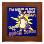 Superhero Corgi Framed Tile