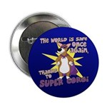 """Superhero Corgi Button (2.25"""")"""