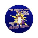 """Superhero Corgi Button (3.5"""")"""
