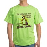 Superhero Corgi Green T-Shirt