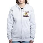Superhero Corgi Women's Zip Hoodie