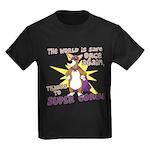 Superhero Corgi Kids Dark T-Shirt