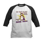 Superhero Corgi Kids Baseball Jersey
