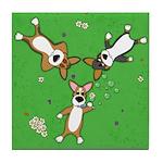 Summer Corgi Trio Tile Coaster
