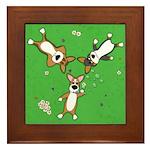 Summer Corgi Trio Framed Tile