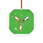 Summer Corgi Trio Ornament (Round)