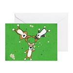 Summer Corgi Trio Greeting Cards (Pk of 20)