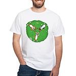 Summer Corgi Trio White T-Shirt