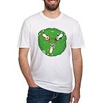 Summer Corgi Trio Fitted T-Shirt