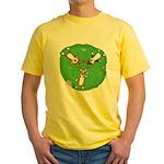 Summer Corgi Trio Yellow T-Shirt