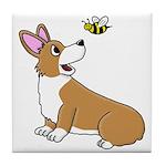 Corgi Bee Tile Coaster