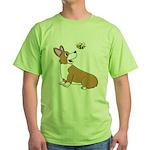 Corgi Bee Green T-Shirt