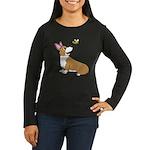 Corgi Bee Women's Long Sleeve Dark T-Shirt