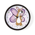 Pembroke Welsh Corgi Butterfly Whimsy Clock