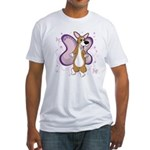 Corgi Butterfly Whimsy Fitted T-Shirt