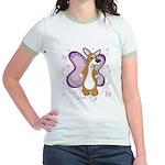 Corgi Butterfly Whimsy Jr. Ringer T-Shirt