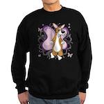 Corgi Butterfly Whimsy Sweatshirt (dark)