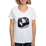Space Corgi Women's V-Neck T-Shirt