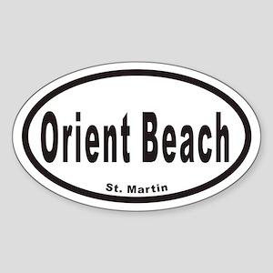 Orient Beach St. Martin Euro Oval Sticker