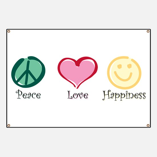 Peace Love Happiness Banner
