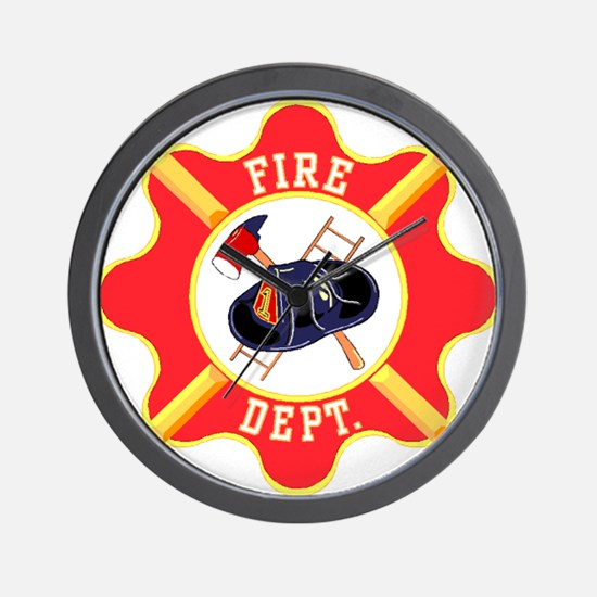 Fire Department Wall Clock
