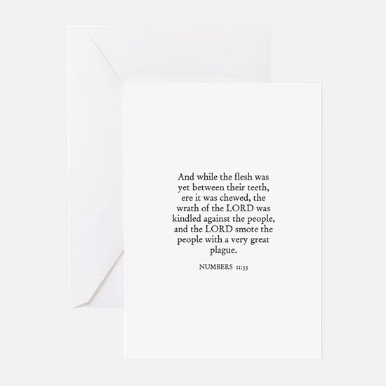 NUMBERS  11:33 Greeting Cards (Pk of 10)