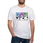 Pembroke Welsh Corgi Strips Fitted T-Shirt