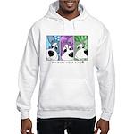 Pembroke Welsh Corgi Strips Hooded Sweatshirt