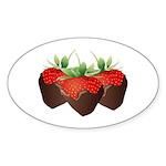 Chocolate Strawberry Sticker (Oval 10 pk)