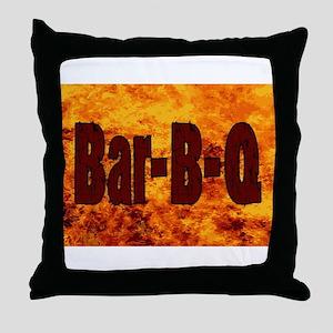 Bar BQ Flame Brand Throw Pillow