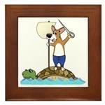 Corgi Sea Adventure Framed Tile
