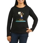 Corgi Sea Adventure Women's Long Sleeve Dark Tee