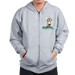 Corgi Sea Adventure Zip Hoodie