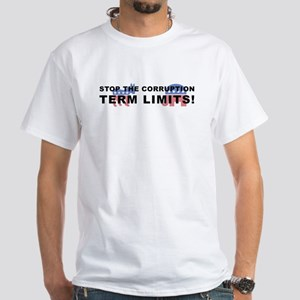 Stop Corruption - Term Limits 2, White T-Shirt