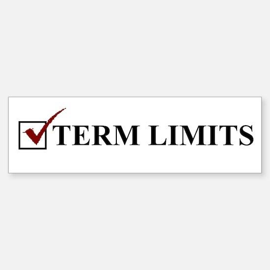 Term Limits - Vote Sticker (Bumper)