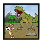 Corgi T-Rex Experience Tile Coaster
