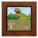 Corgi T-Rex Experience Framed Tile