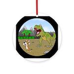 Corgi T-Rex Experience Ornament (Round)