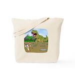 Corgi T-Rex Experience Tote Bag