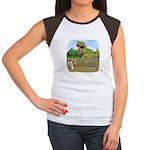 Corgi T-Rex Experience Women's Cap Sleeve T-Shirt