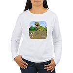 Corgi T-Rex Experience Women's Long Sleeve T-Shirt