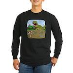Corgi T-Rex Experience Long Sleeve Dark T-Shirt